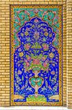 Golestan Palace decoration detail. Colorfull tiles decoration detail of Golestan Palace former royal Qajar complex in capital city. Tehran, Iran Stock Photos