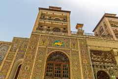 Golestan Palace exterior Edifice of the Sun tower Stock Images