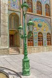 Golestan Palace green lamp Stock Photo
