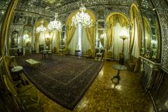 GOLESTAN PALACE. A historical room in golestan palace in theran stock image