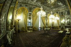 GOLESTAN PALACE. A historical room in golestan palace in theran stock images