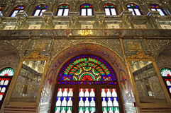 Golestan Palace. Stained glass at Golestan Palace in Tehran Stock Photo
