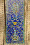 Golestan Palace, Tehran, Iran. Tile panel in the 19th century Qajar Golestan Palace in Tehran, Iran Stock Photos