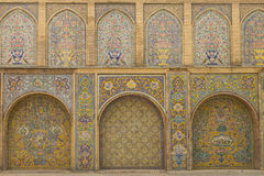 Golestan Palace, Tehran, Iran. Tile panels in the 19th century Qajar Golestan Palace in Tehran, Iran Royalty Free Stock Photography