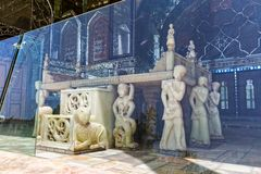 Golestan Palace throne behind glass Stock Photography