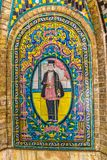 Golestan Palace tiles detail Royalty Free Stock Photo