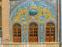 Golestan Palace windows Stock Photo