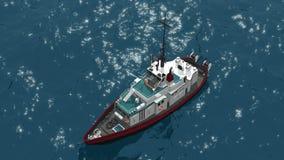 Goleta de la pesca ilustración del vector