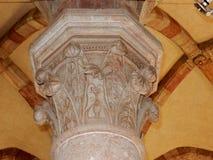 Goleto - das obere Kirchenkapital Stockbild