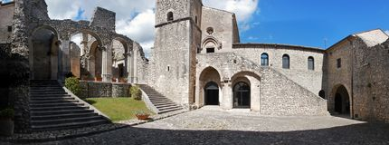 Goleto - Overview of the abbey Royalty Free Stock Image