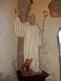 Goleto - Statue von St. William mit dem Wolf Stockbild