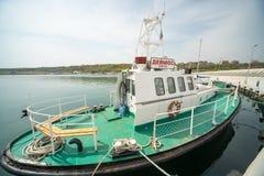 Goletta di pesca sul pilastro Sarafovo in Bourgas, Bulgaria Fotografia Stock Libera da Diritti