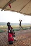 golfövningsungdom Royaltyfri Foto