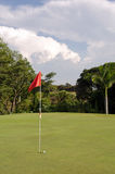Golfübungsgrün Stockfotos
