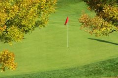 Golf – Pin on the Green Royalty Free Stock Image