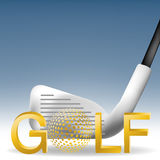 Golf 01. Golf Sport , illustration images for activities Stock Photography