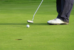 Golf. Field in Adare - ball going to the hole Stock Photo