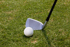Golf. Ready for a club and ball Stock Images