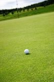 Golf. White but dirty golfball on the putting green Royalty Free Stock Photos