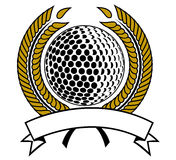 Golf. Silhouette of a golf emblem Stock Images