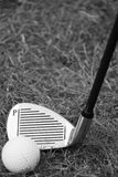 Golf. Image of a black and white golf club this image was taken in bright sun light Stock Photos