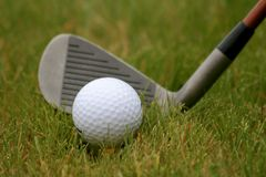 Golf #2. Golf ball on tee with driver Stock Photography