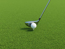 Golf. 3d illustration of golf ball on a tee with driver Royalty Free Stock Image