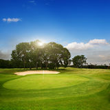 Golf. Course on island Bali Royalty Free Stock Photo