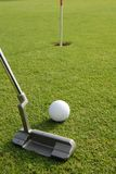 Golf. A short put in the game of golf Royalty Free Stock Images