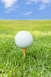 Golf. Ball Against Blue Sky Stock Photo