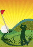 Golf illustration stock