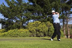 Golf #42. Man playing golf on the tee box Stock Images