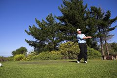 Golf #47. Man playing golf on the tee box Royalty Free Stock Image