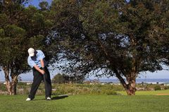 Golf #52. Man playing golf on the tee box Stock Photography