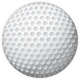 A golf. Golf ball realized in  illustration Royalty Free Stock Photo