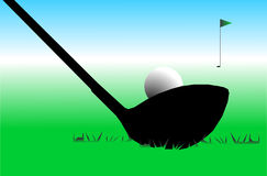Golf. Vector golf club hit ball vector illustration