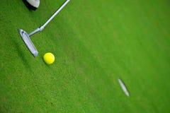 Golf aan gat royalty-vrije stock afbeelding