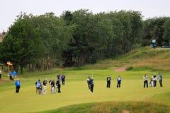 Golf abierto del 8vo espacio abierto del tiro de acercamiento de Lee Westwood Imagen de archivo
