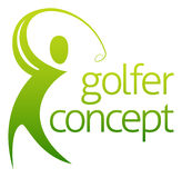 Golf Abstarct. An abstract golfer figure swinging his golf club concept Stock Photos
