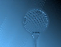 Golf abstract. Embossed abstract of golf ball and tee Royalty Free Stock Image