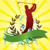 Golf abstract background. Golf Player Silhouette Vector Illustration with an Abstract Background Design Stock Images