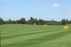 Golf active leisure. Golf club field grass course active leisure stock photography