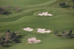 Golf aerial. An aerial image of parts of a golf course Royalty Free Stock Photos