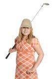 Golf aficionado del niño Fotografía de archivo libre de regalías