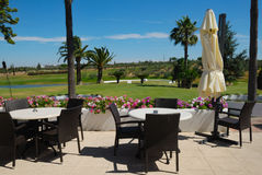 Golf al aire libre del café Foto de archivo