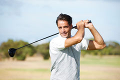 Golf is all about confidence Royalty Free Stock Images
