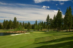 Golf & club nazionale di Montreux Immagine Stock