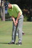 Golf - Andrew McLARDY, RSA. European Tour - Estoril Open de Portugal 2008, Oitavos Dunes 03-06April2008, Tournament golf photo, put shot Royalty Free Stock Photo