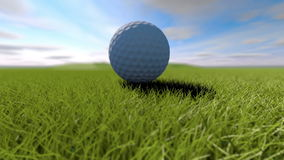 Free Golf. Animation Of Golf Ball Falling Into A Hole. 3 In 1. Video Pack Royalty Free Stock Image - 71027836