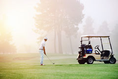Golf approach shot Stock Photography